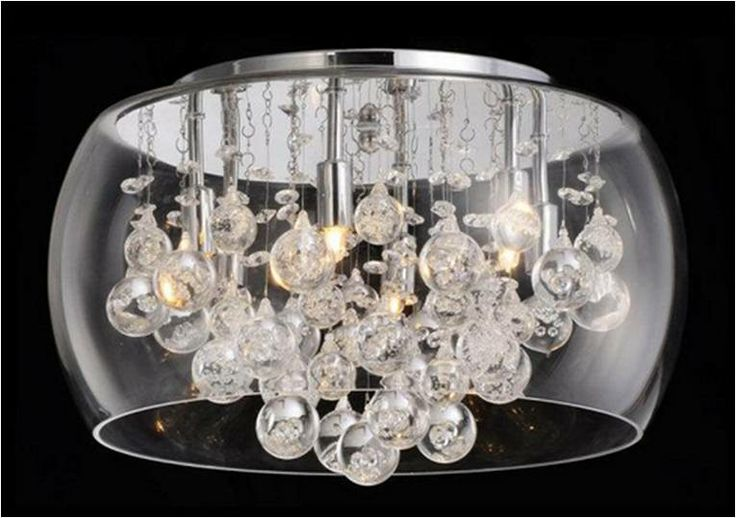 20 Quot Crystal Bubble Flush Mount Flush Amp Semi Flush
