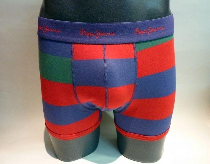 Pack de 2 boxers Pepe Jeans stefan - ENVÍO 24/48h - G5 F3307 - Boxers de pierna media con goma vista en marino y logo de la marca en rojo. Tu ropa interior masculina en varela intimo http://www.varelaintimo.com/