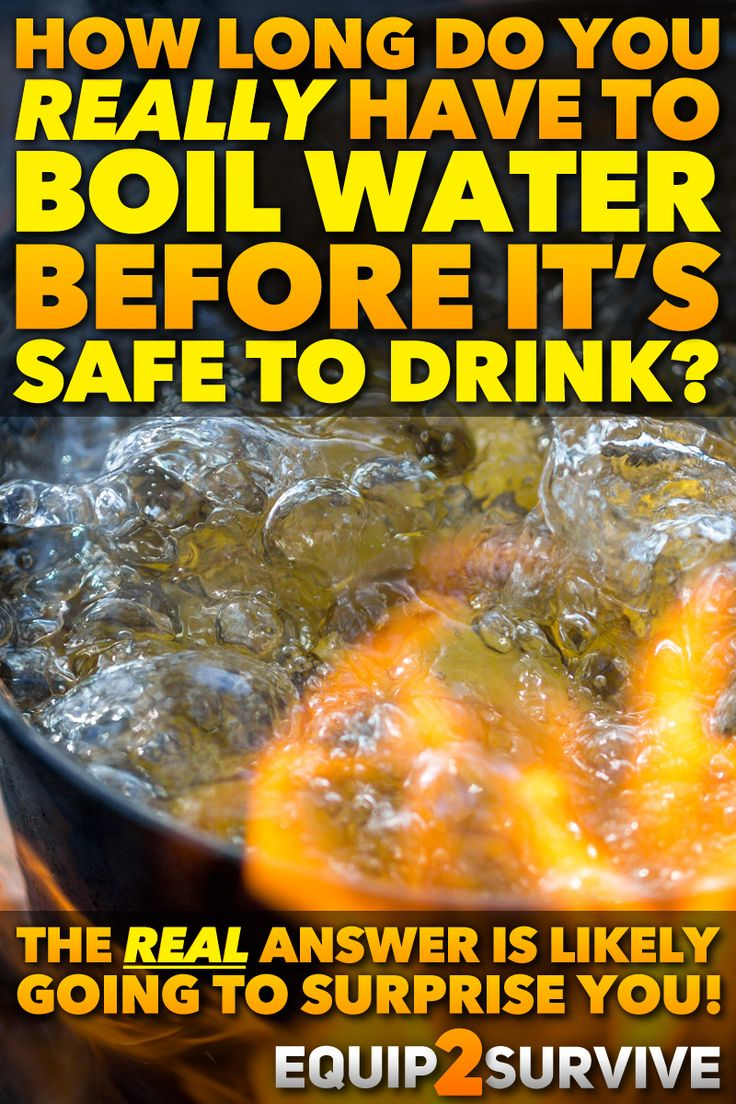 How long do you really have to boil water in a survival situation to make it safe to drink? The REAL answer is likely to surprise you!! Click to discover the REAL answer based on actual science!! Survival, disaster preparedness, emergency preparedness, bushcraft, wilderness survival, prepper, natural disaster, survive, survival skills, hydration, camping, water, hydration, wilderness skills, truth, myths, safety, boil warnings, crisis, emergency preparedness.