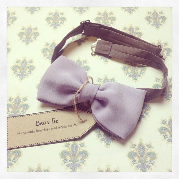 Men's bow tie, lovingly handmade from lilac purple fabric, ideal for a wedding, by Beau Tie, £26
