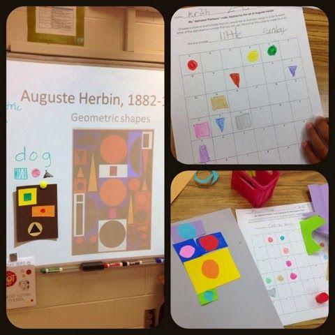 Secret Code Collage: Auguste Herbin (2nd grade)