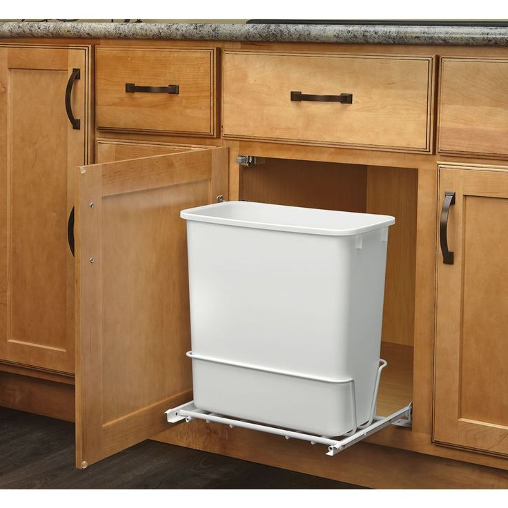 shop rev-a-shelf 20-quart plastic pull out trash can at