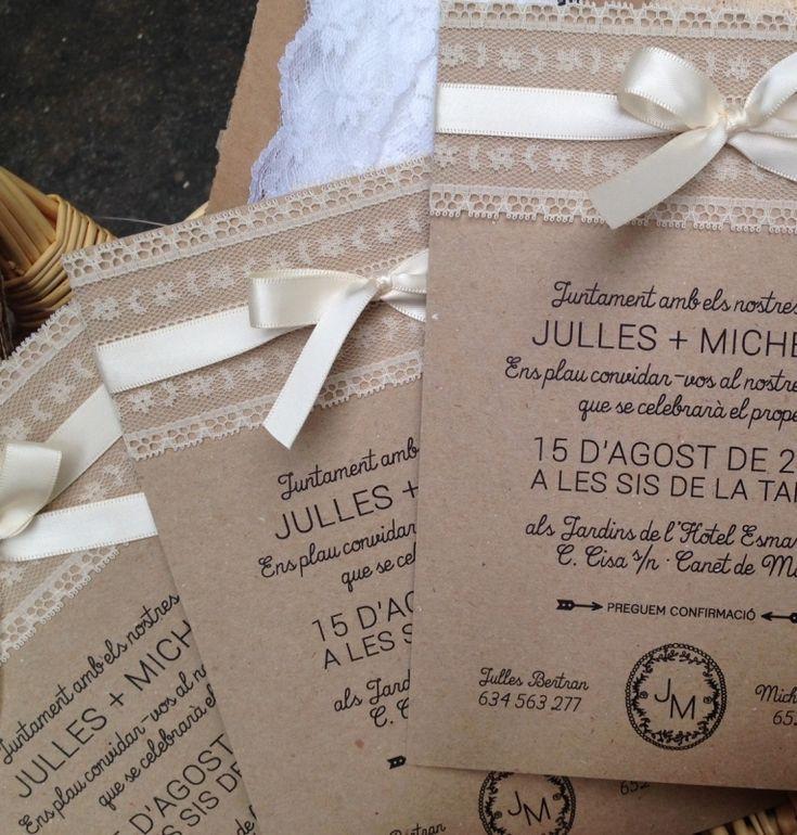 Invitaciones De Boda Invitacions De Casament Bodas