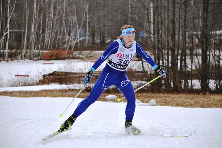 http://www.heartratewatchcompany.com - Heart Rate Watch Company tester and elite nordic skier Brandy Stewart, a Polar user, competing at US Nationals.