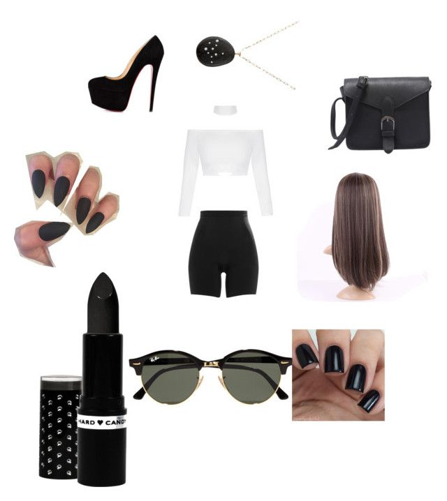 """""""Kim kardasion"""" by punkie707 ❤ liked on Polyvore featuring SPANX, Hard Candy, Ray-Ban and Venyx"""