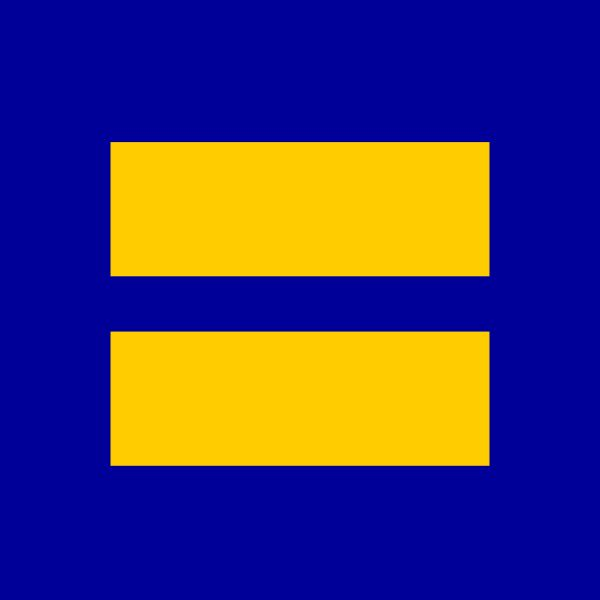 Human Rights Campaign (HRC) logo ~I have this displayed next to my pride sticker on my car!~Evy