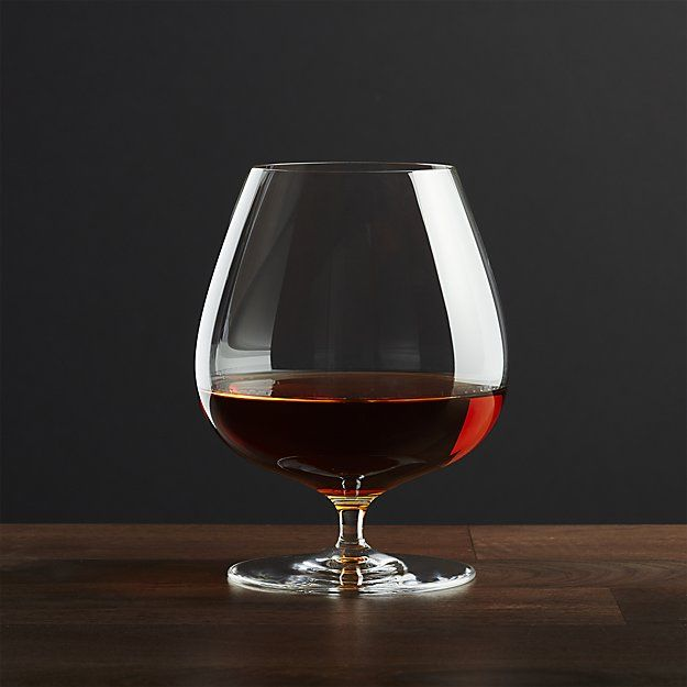 With the warmth of a cupped hand and a gentle swirl, this classically styled and sized brandy snifter glass releases and concentrates all the aromatics and nuances of the cognac or brandy distiller's art. Each brandy glass is handcrafted in Slovakia by skilled glassmakers.