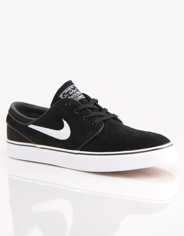 new style 3b7d7 689be Nike SB Zoom Stefan Janoski Skate Shoes - Black White - RouteOne.co.