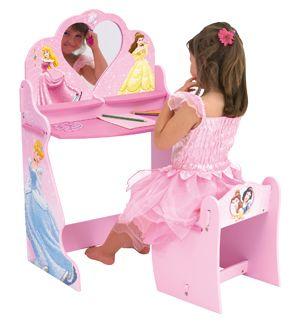 Astounding Princess Vanity Table Chair Set Gallery - Best image 3D ...