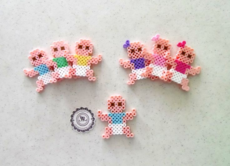 Baby Boy or Baby Girl Babies Perler Beads Decorative door Annie42