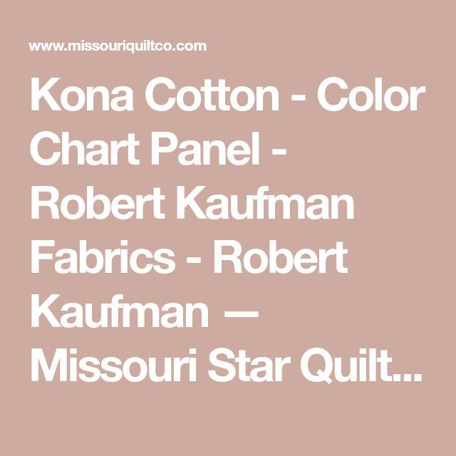 Kona Cotton - Color Chart Panel - Robert Kaufman Fabrics - Robert Kaufman —  Missouri Star Quilt Co.