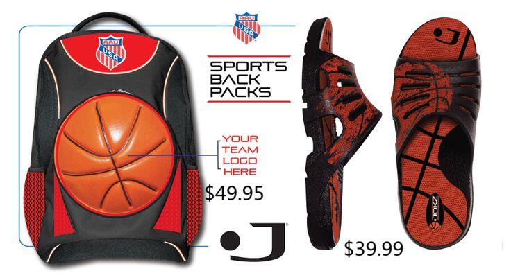 AAU Custom Basketball Backpack & Jukz Basketball Shoes.  Both made from REAL BASKETBALLS