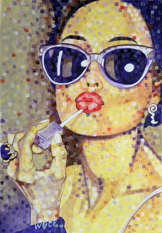 "Saatchi Art Artist: WOLF Art; Acrylic 2013 Painting ""'Vanity' (sold-Abu Dhabi UAE)"""