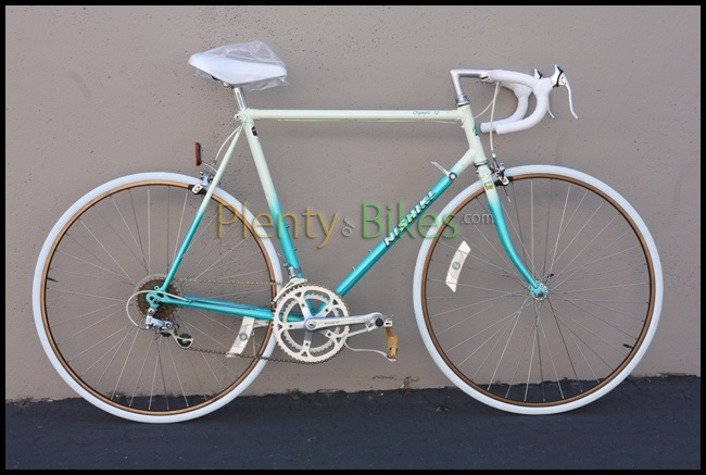 I always love Nishiki bikes! Here's a 59cm Olympic 12, in excellent condition!