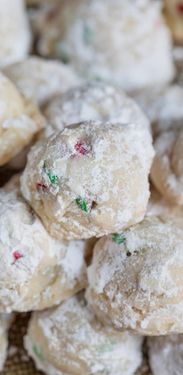 Christmas Snowball Cookies Are My Mom S Recipe Full Of Red And Green