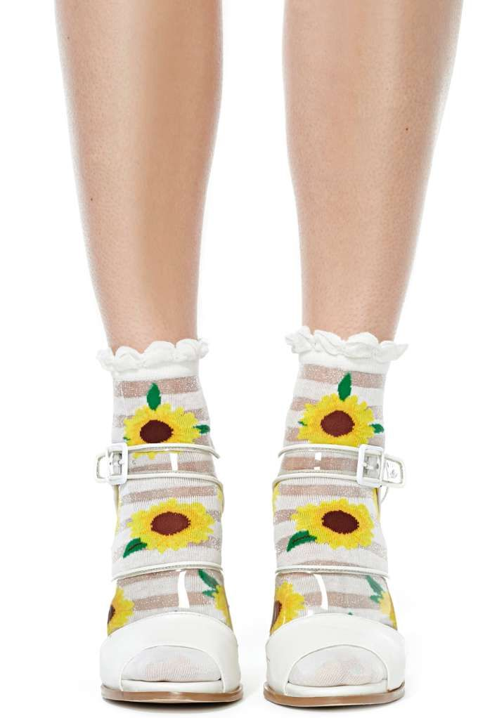 Clear Day Ankle Socks   Shop Accessories at Nasty Gal