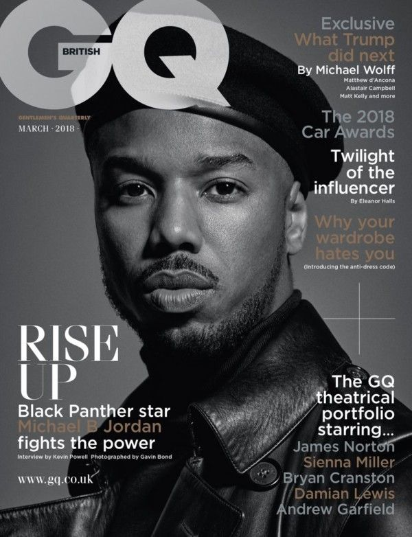 Black Panther Star Michael B Jordan Is Fierce For GQ Magazine Latest Cover