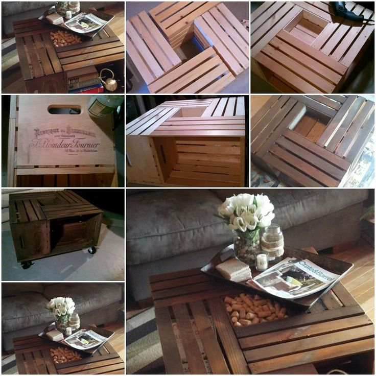 How To Make Custom Designer Wine Table With Shipping Crates Step By DIY Tutorial Instructions