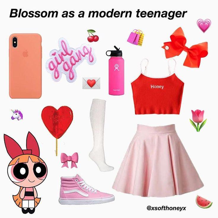 Blossom Powerpuff Girls Aesthetic Niche Meme  Powerpuff -9502
