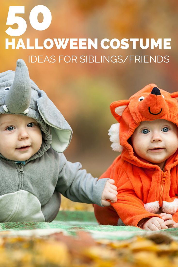50 Halloween Hair And Makeup Tutorials: 50 Halloween Costume Ideas For Siblings Or Friends