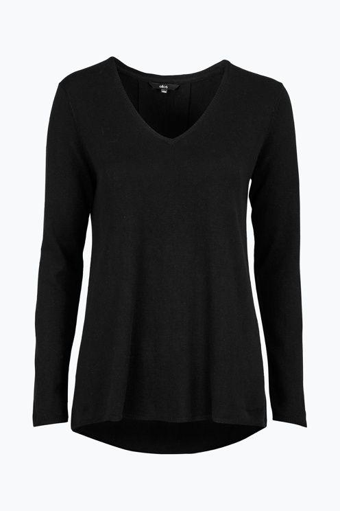 Modern basic Finstickad tröja