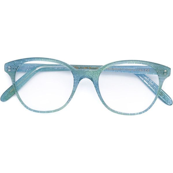 Cutler & Gross - round frame glasses - women - Acetate - One Size (565 CAD) ❤ liked on Polyvore featuring accessories, eyewear, eyeglasses, blue, blue eyeglasses, cutler and gross, blue glasses, cutler and gross eyeglasses and cutler and gross glasses