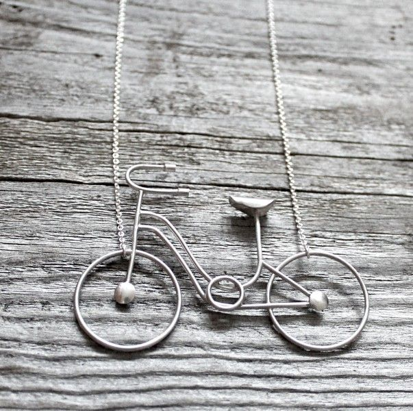 Necklace - Bike in sterling silver by Maja Ternström Jewelry, the best gift for #bike lovers! <3