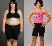 Biggest loser så äter och tränar de för att gå ner i vikt