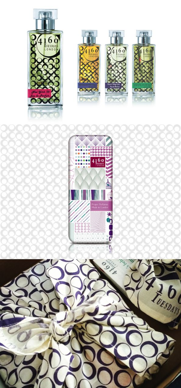 4160Tuesdays Perfume Branding, Perfume TIn, Perfume bottle, designed by Paper Aeroplane Creative www.paperaeroplane.co.uk