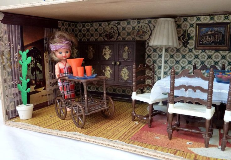 House of Dolls Vintage 50-60s Casa delle Bambole Vintage anni '50/'60-MQ Italy   JPEGbay.it