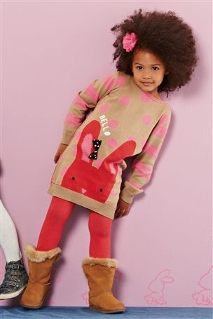 12-18 mth Buy Tan Bunny Jumper Dress (3mths-6yrs) from the Next UK online shop