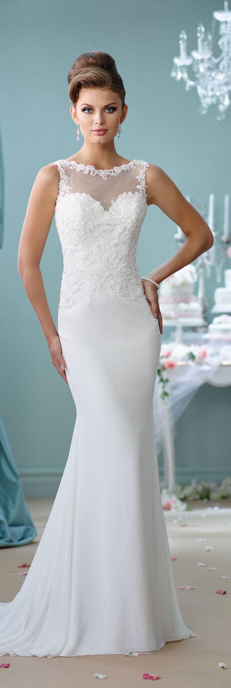 Wedding Dresses by Mon Cheri - Enchanting Spring 2016 ~Style No. 116143 #chiffonweddingdress