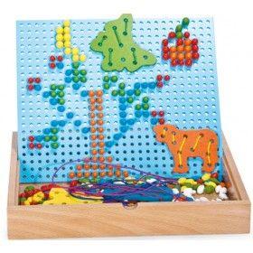 Mozaika hríbiky s prevliekačkou