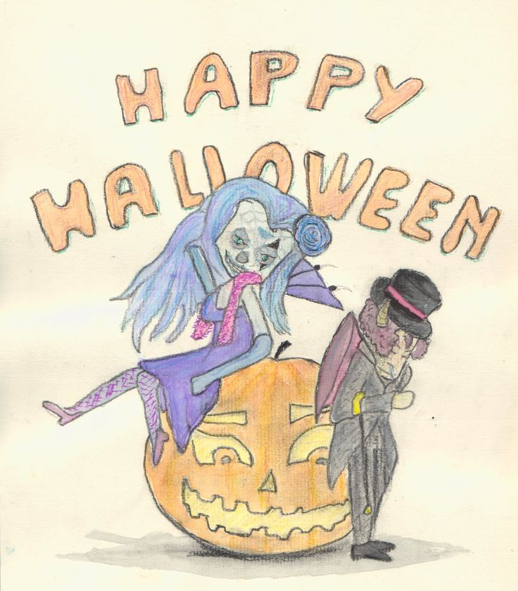 happy halloween tužka - aquarel