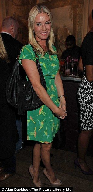 Ladies who launch: Denise Van Outen looked very pretty in her green dress which was decorated with hummingbirds while Twiggy's fellow M&S mo...