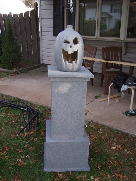 Stone Cemetery Columns : Best images about halloween cemetery diy on pinterest