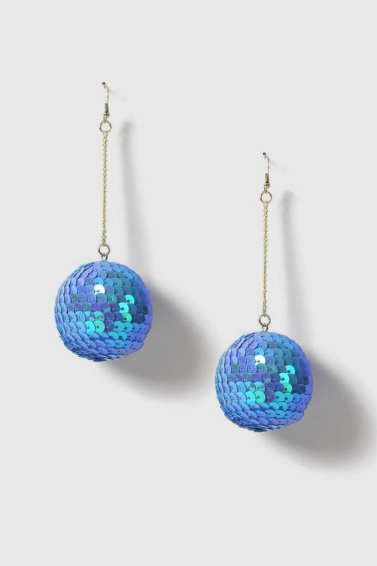 Sequin Ball Drop Earrings - Bags & Accessories- Topshop Europe