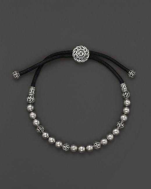 John Hardy Men's Classic Silver Batu Meteorite Beaded Bracelet