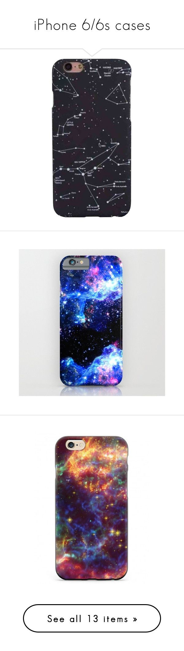 """""""iPhone 6/6s cases"""" by theloopweaver ❤ liked on Polyvore featuring Phones, cases, iPhones, tech, accessories, tech accessories, phone cases, phones, iphone & ipod cases and iphone cases"""