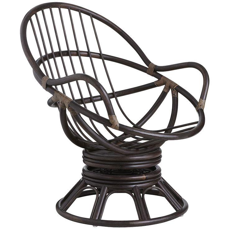 Papasan Swivel Rocking Chair Frame Brown Papasan Chair