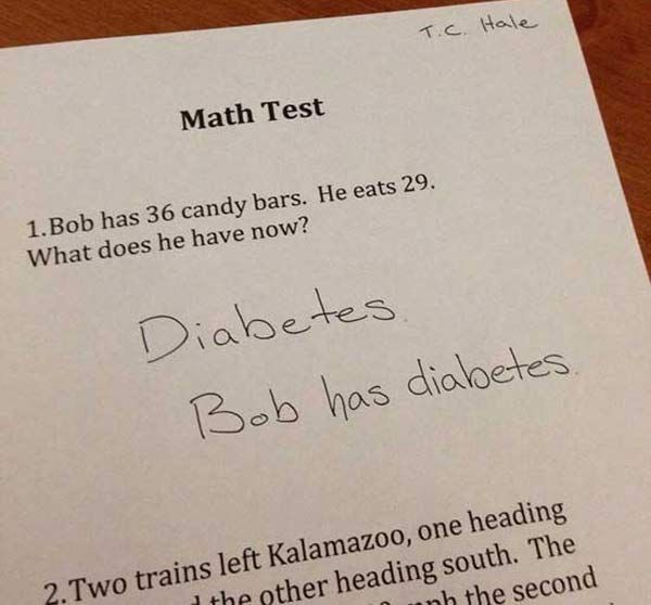 31 Hilarious Test Answers from Know-it-all kids: