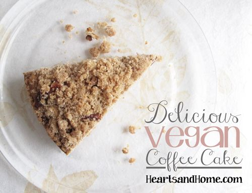 Delicious vegan coffee cake  f