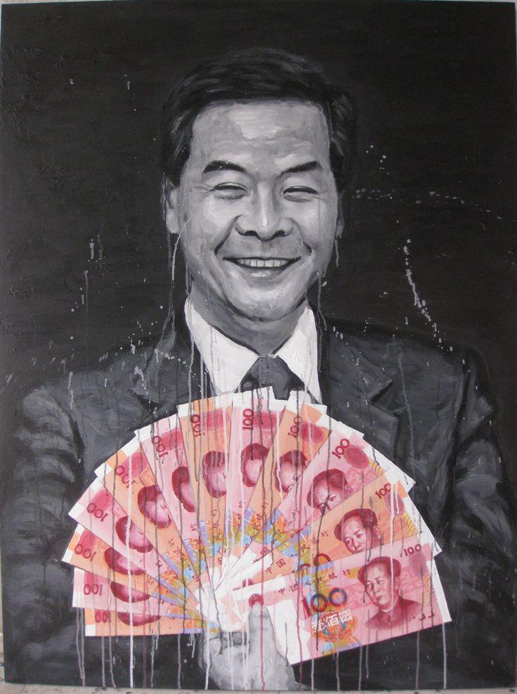 Mr. Leung Chun Ying 2012  160 x 120cm Acrylic on canvas
