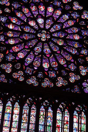Rose window, Cathedral of Notre Dame, Paris