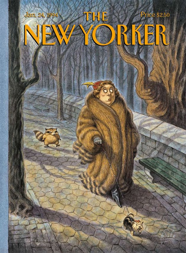 """The New Yorker January 1994 """"Tailed"""" by  Peter de Seve See more of de Seve's work!"""