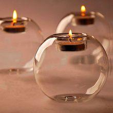stile dell'Europa rotondo cava di nozze candela di vetro Candeliere bel…