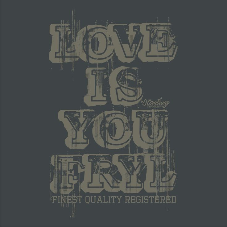 typography by tonilung love is you