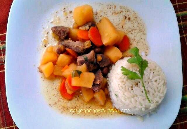 Receta fácil y deliciosa de carne de res con gandules #recetascaseras #recetas
