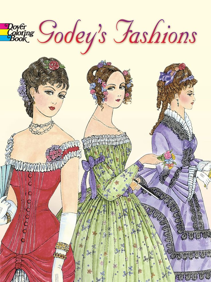 Godeys Fashions Coloring Book