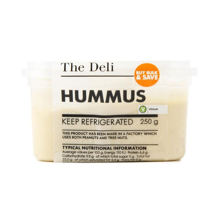 The Deli Hummus 250g - every vegetarian's perfect dip!